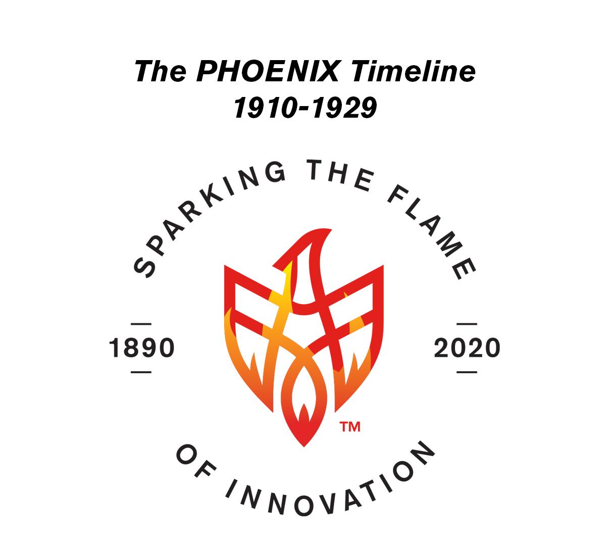 PHOENIX Celebrates 130 Years: 1910-1929 Timeline
