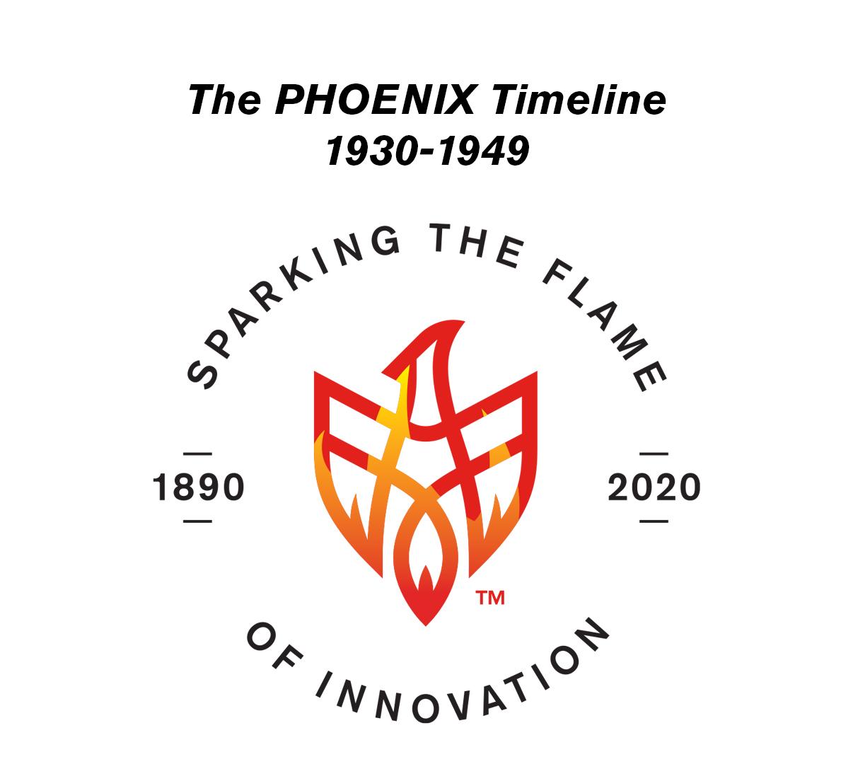 PHOENIX celebrates 130 years: 1930-1949 Timeline